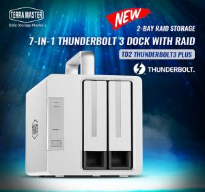 TerraMaster Launches TD2 Thunderbolt 3 Plus 7-in-1 Thunderbolt 3 Dock with RAID