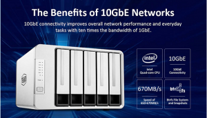 A Intel Quad-core High-Speed 5-Bay NAS feat. 10GbE LANfor Only $599.99